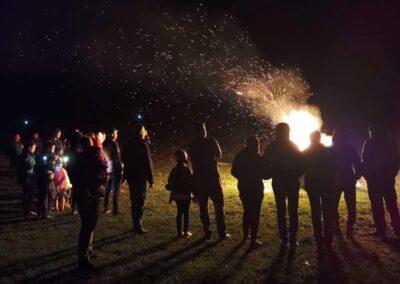 foc de tabara in camping campoeuroclub la delta dunarii