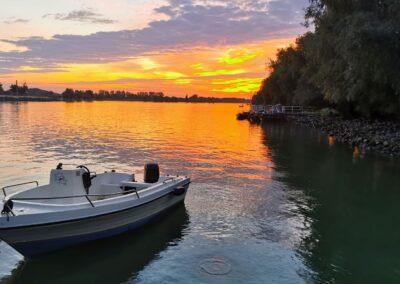 barca cu motor pe delta dunarii